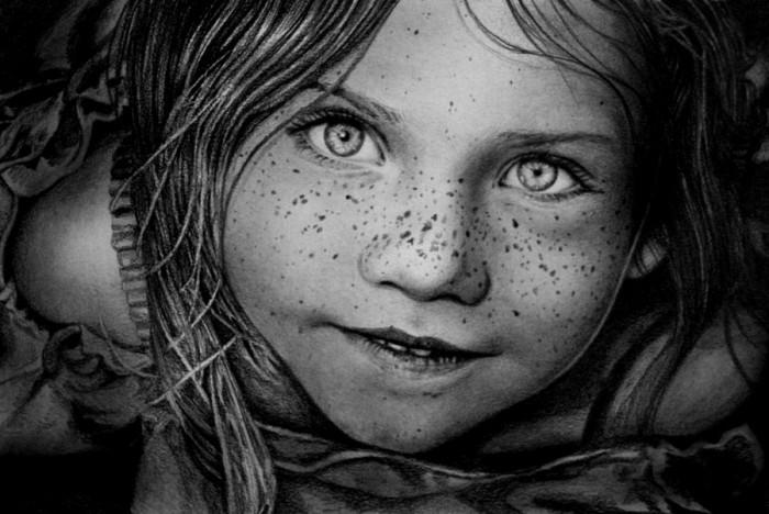 девушки рисованные простым карандашом: