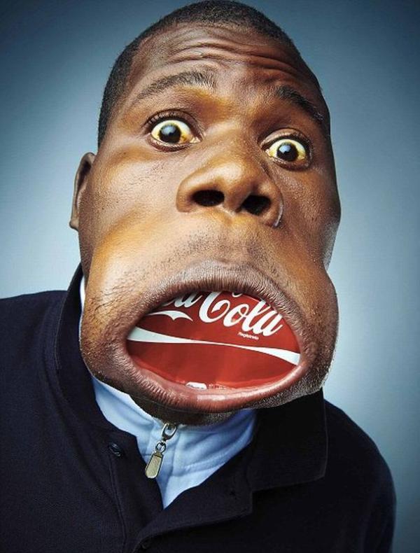 огромный бабский рот