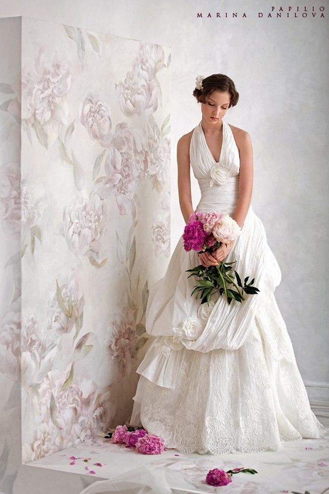 Красивые свадебные платья фото 2012, различные стили свадебных платьев короткие, пышные, необычные (7)