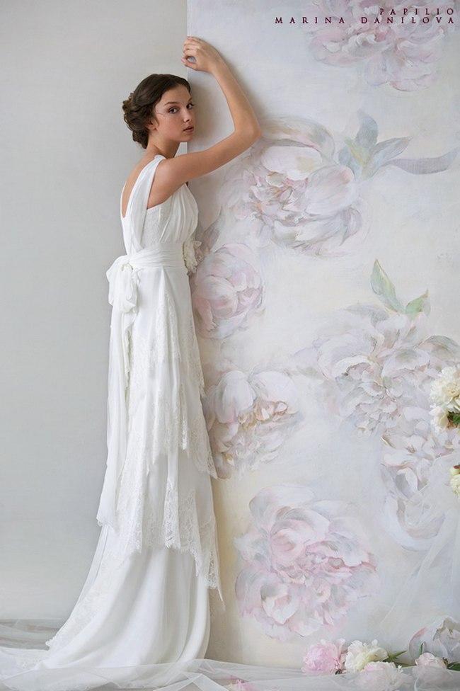 Красивые свадебные платья фото 2012, различные стили свадебных платьев короткие, пышные, необычные (16)