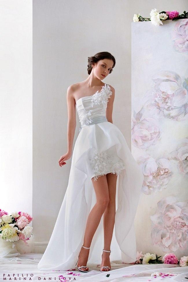 Красивые свадебные платья фото 2012, различные стили свадебных платьев короткие, пышные, необычные (18)