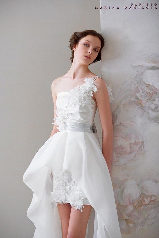 Красивые свадебные платья фото 2012, различные стили свадебных платьев короткие, пышные, необычные (19)