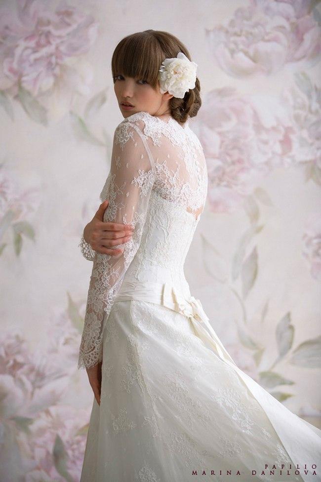 Красивые свадебные платья фото 2012, различные стили свадебных платьев короткие, пышные, необычные (21)