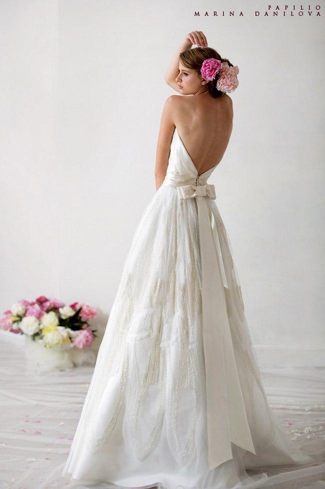 Красивые свадебные платья фото 2012, различные стили свадебных платьев короткие, пышные, необычные (23)