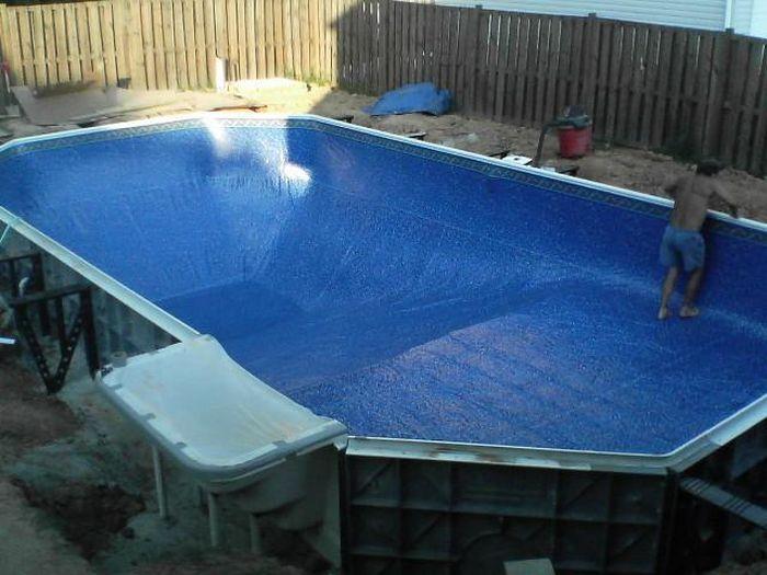 Сделать самому бассейн во дворе своими руками