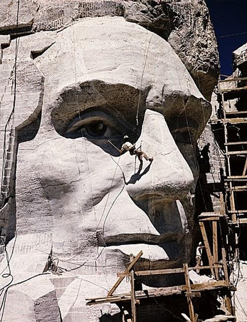 Как строили национальный мемориал гора Рашмор (13)