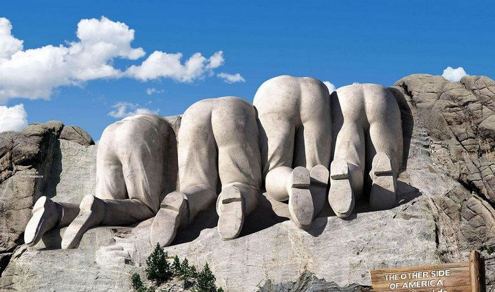 Как строили национальный мемориал гора Рашмор (35)