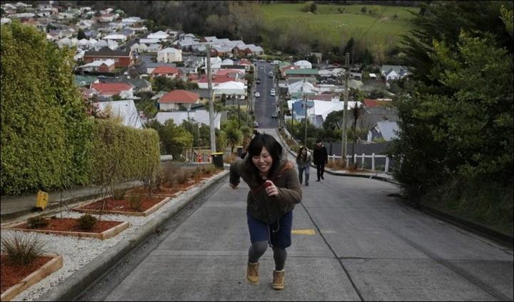 самая крутая улица занесенная в Книгу рекордов Гиннеса, улица на крутом склоне. Самая крутая улица Baldwin Street в Новой Зеландии (3)