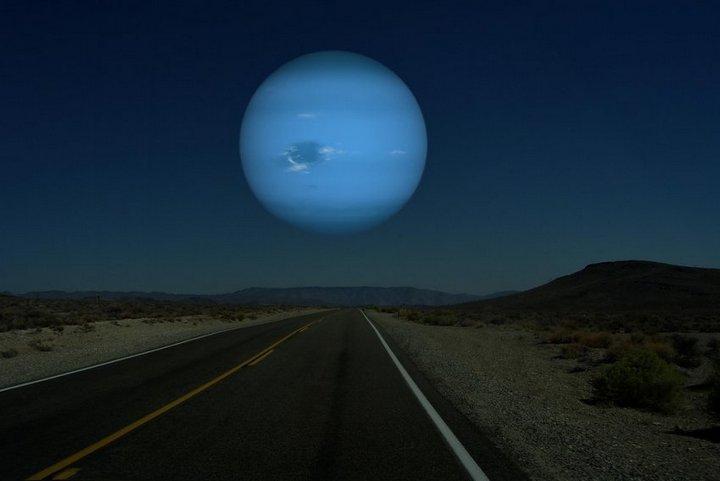 Как бы выглядели дрегие планеты оказавшись на месте Луны (6)