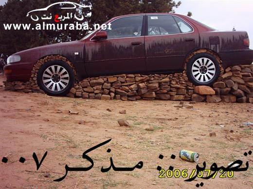 Машины на камнях. Необычное развлечение арабов (10)