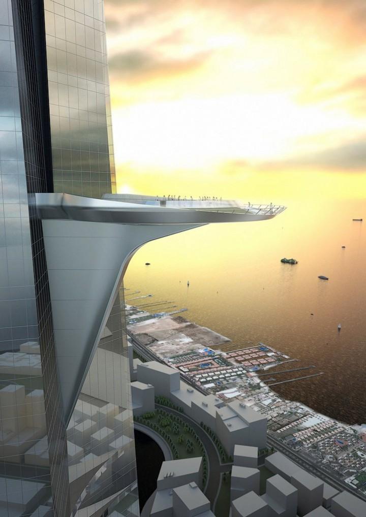 Строительство самого высокого небоскреба в мире в Саудовской Аравии (1)