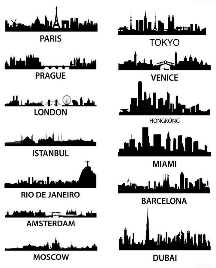 Угадай город по силуэту (2)