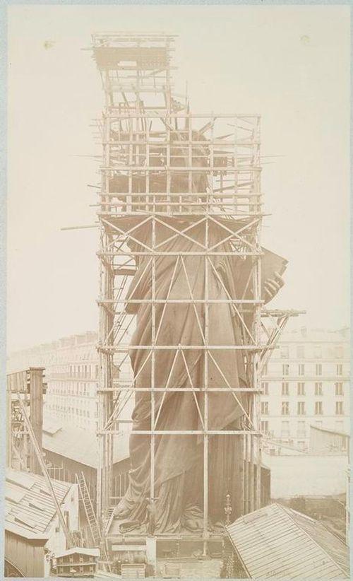Как строили статую Свободы в Нью-Йорке, старые фото (10)