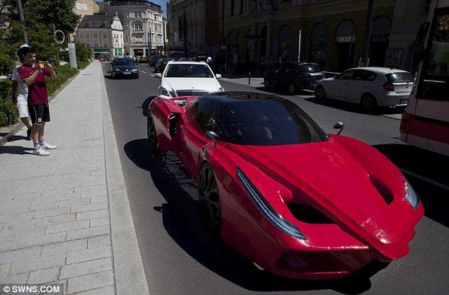 Самый дорогой велосипед в стиле Ferrari, самодельный Феррари (11)