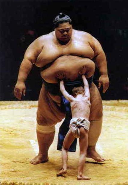 самый тяжелый сумоист в мире, самый большой спортсмен в мире, большой человек (1)