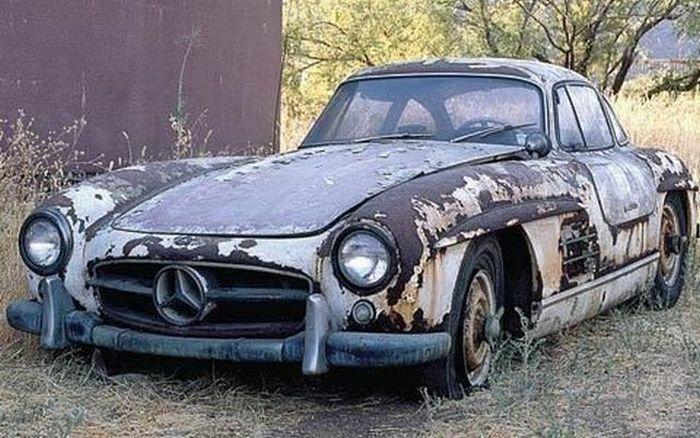 Брошенные дорогие автомобили в Дубае, редкие автомобили (44)