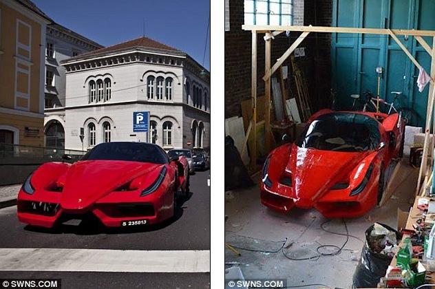 Самый дорогой велосипед в стиле Ferrari, самодельный Феррари (5)