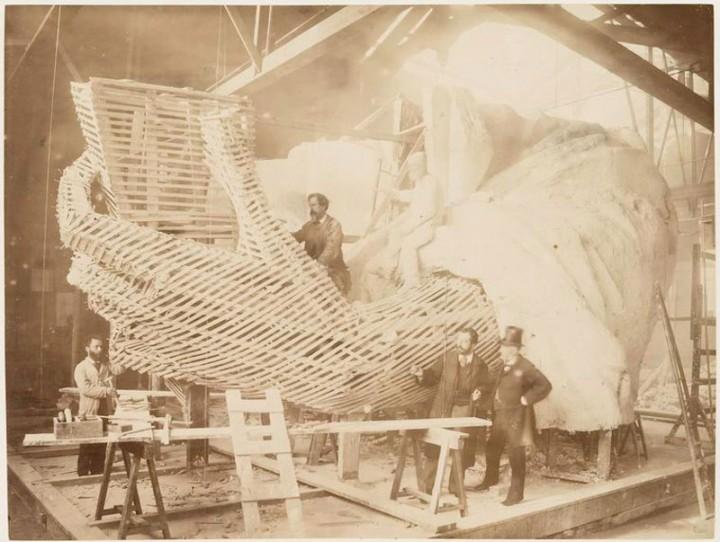 Как строили статую Свободы в Нью-Йорке, старые фото (6)