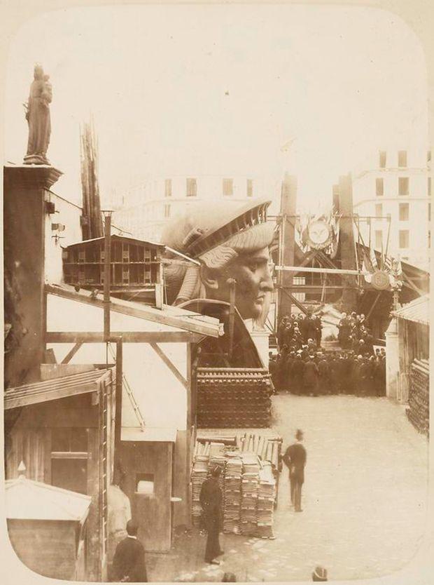 Как строили статую Свободы в Нью-Йорке, старые фото (7)