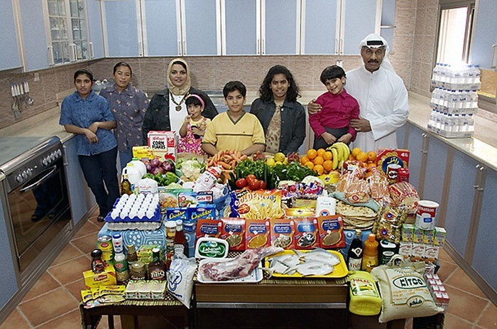 Что съедают семьи из 15 стран мира за неделю (12)