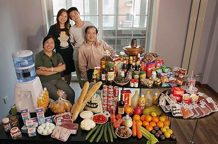 Что съедают семьи из 15 стран мира за неделю (9)