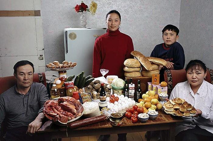 Что съедают семьи из 15 стран мира за неделю (1)