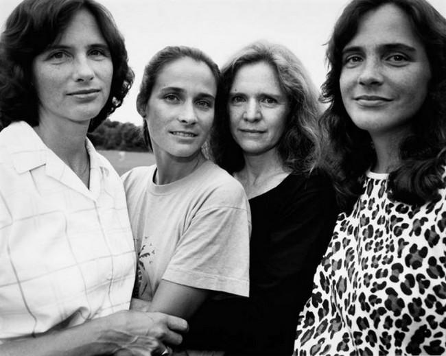 каждый год по фото, как стареют люди, четыре сестры (14)