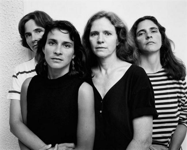 каждый год по фото, как стареют люди, четыре сестры (15)