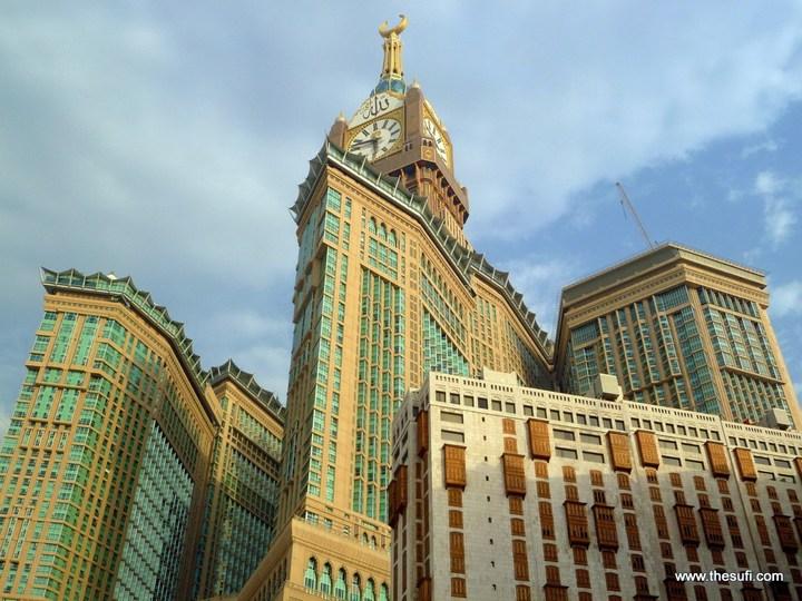"""Огромная башня с часами в Саудовской Аравии — """"Makkah Clock Royal Tower"""", мега стройка (15)"""