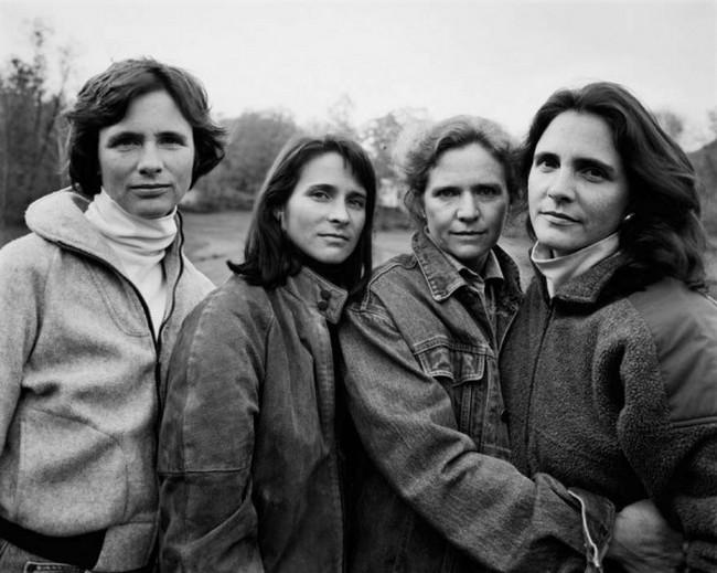 каждый год по фото, как стареют люди, четыре сестры (16)