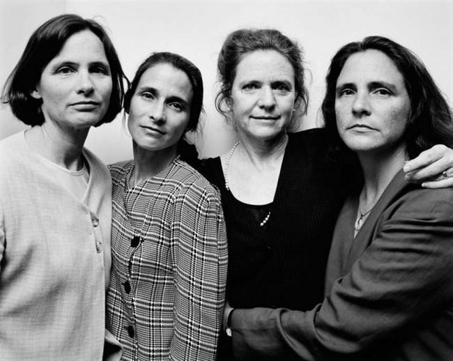 каждый год по фото, как стареют люди, четыре сестры (23)