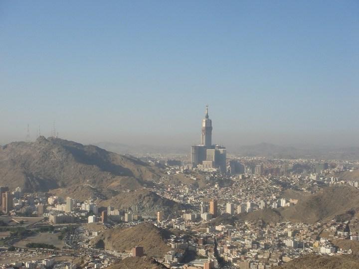 """Огромная башня с часами в Саудовской Аравии — """"Makkah Clock Royal Tower"""", мега стройка (23)"""