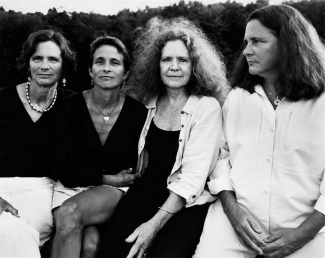 каждый год по фото, как стареют люди, четыре сестры (32)