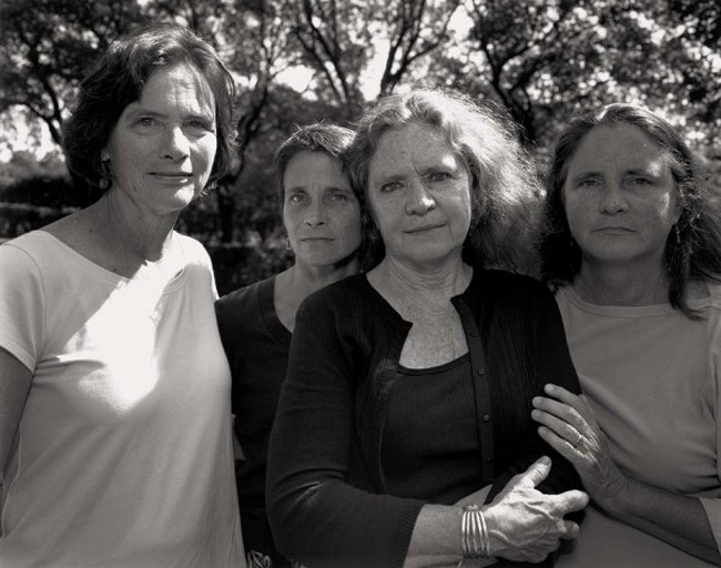 каждый год по фото, как стареют люди, четыре сестры (34)