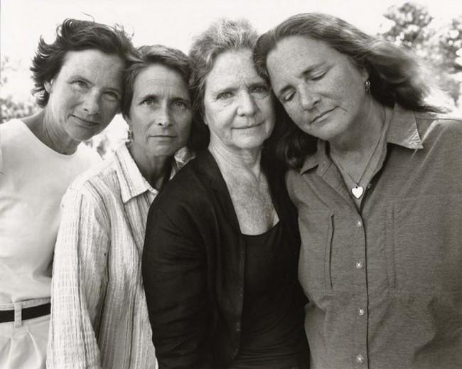 каждый год по фото, как стареют люди, четыре сестры (36)