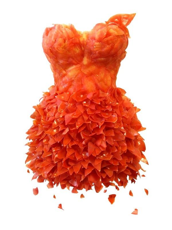 Платья из еды, необычные платья (11)