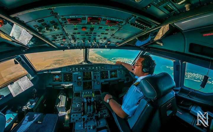 Фотографии из кабины пилота самолета (5)