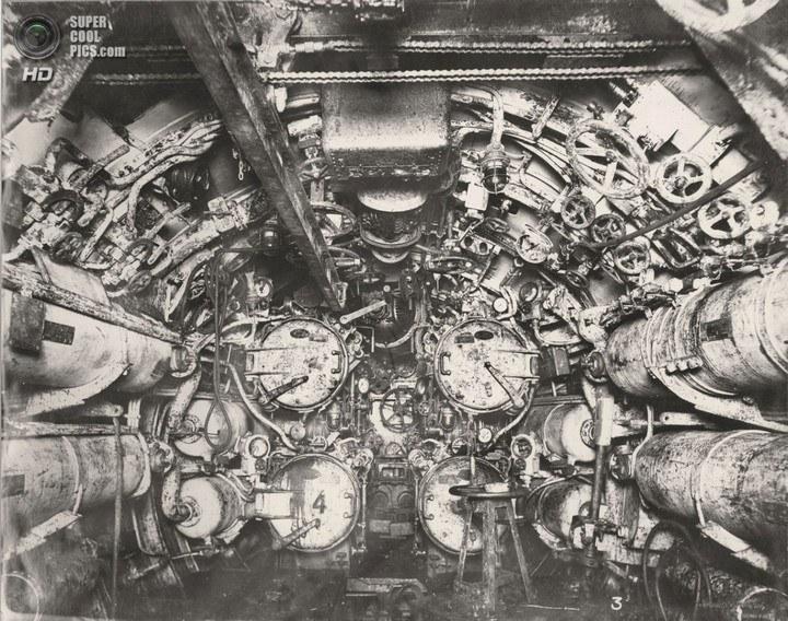 Немецкая подлодка SM UB-110, устройство, вид изнутри (4)