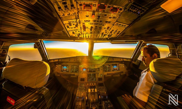 Фотографии из кабины пилота самолета (6)