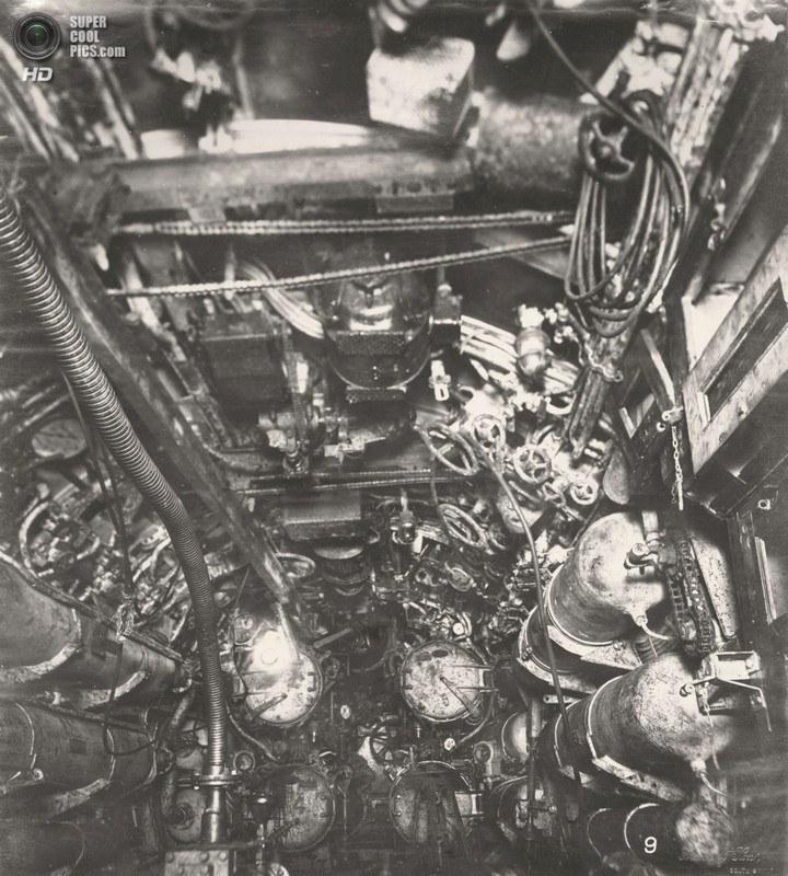 Немецкая подлодка SM UB-110, устройство, вид изнутри (8)