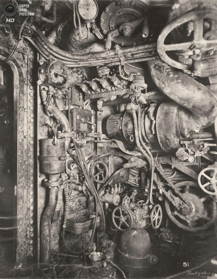 Немецкая подлодка SM UB-110, устройство, вид изнутри (20)