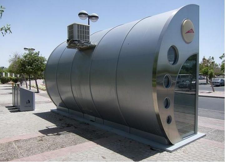 Остановки с кондиционером в Дубаи (2)