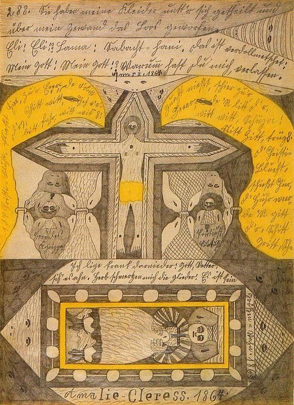 Что рисуют шизофреники, рисунки душевнобольных (3)