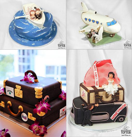 Необычные и красивые свадебные торты