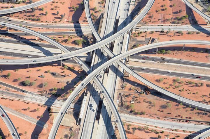 Фото сверху, сложные и запутанные автомобильные дорожные развязки (9)