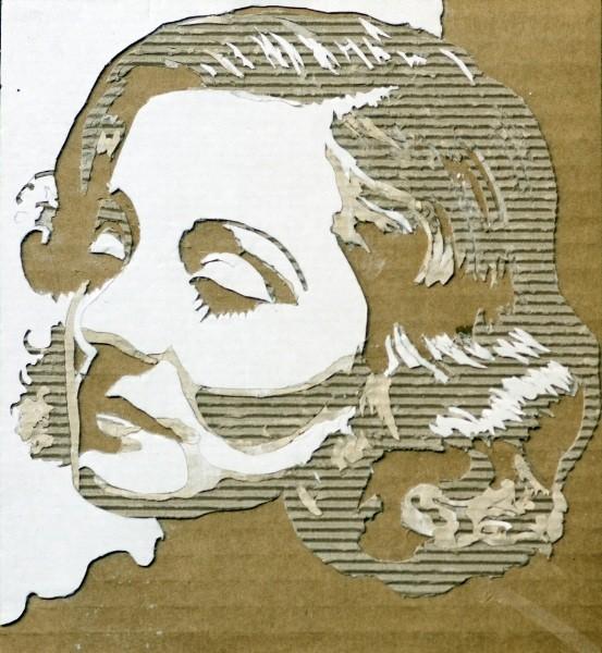 Портреты на гофрированном картоне необычные картины на гофротаре (9)