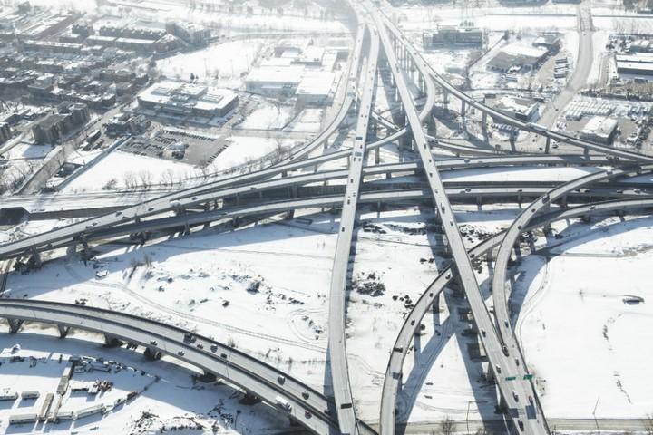 Фото сверху, сложные и запутанные автомобильные дорожные развязки (5)