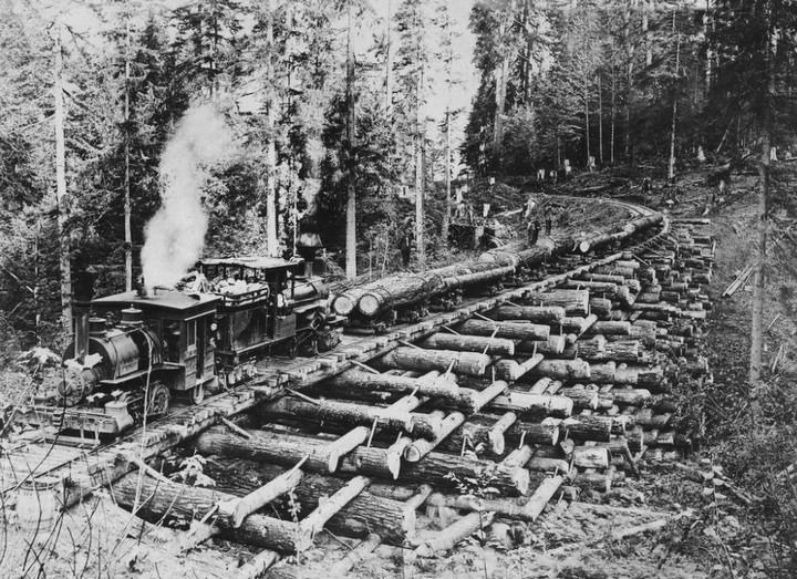 Как раньше строили железнодорожные мосты из бревен (дерева), деревянные мосты (3)