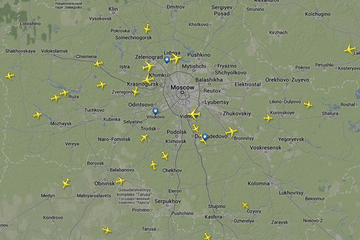 время полета самолета: