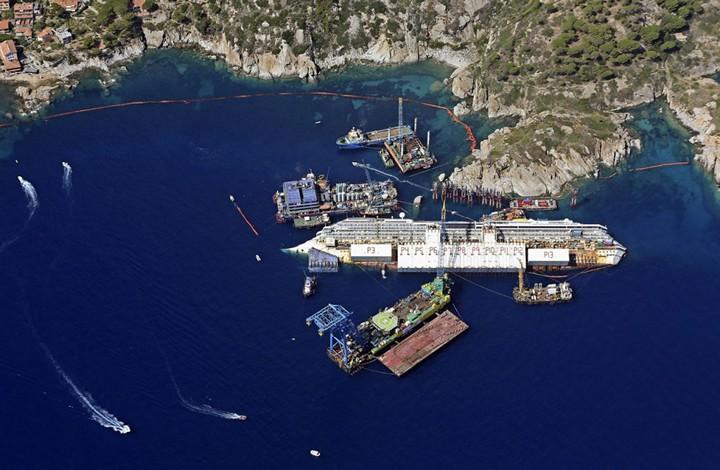 Операция по подъему лайнера Costa Concordia (22)